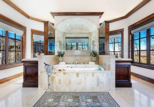 The Castle master bathroom